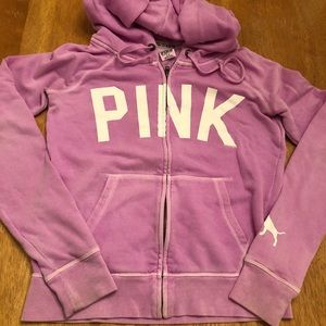 Pink zip up jacket good condition Sz S very cute